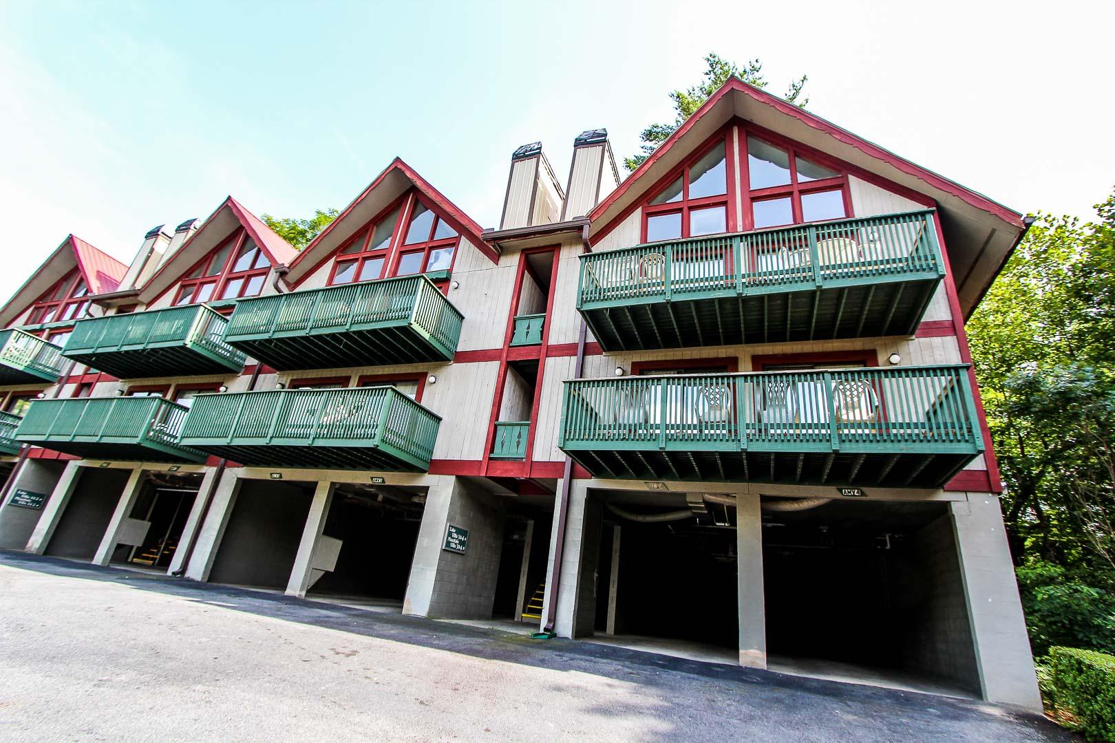 A stoic resort building at VRI's Alpine Crest Resort in Georgia.