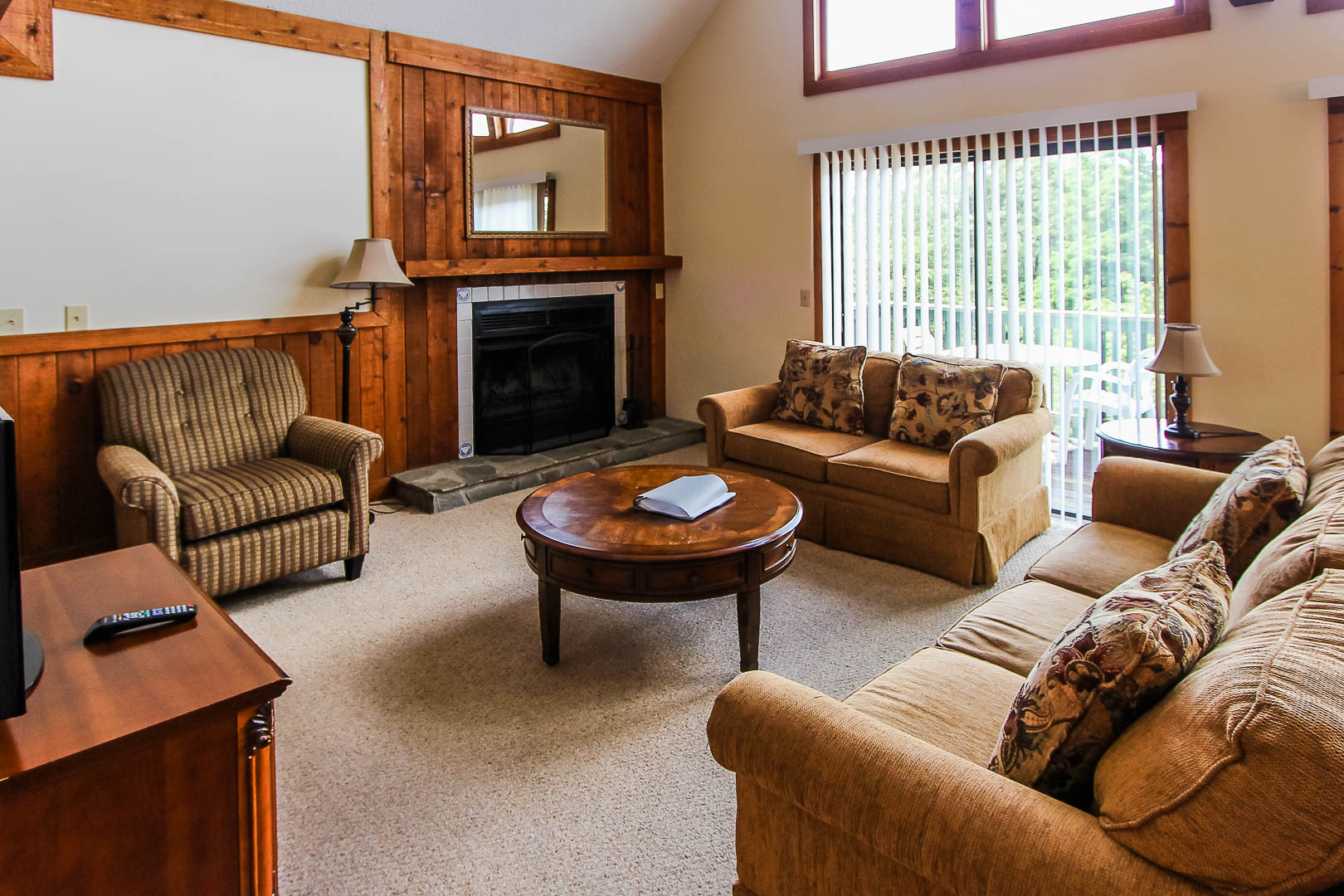 A cozy living room area at VRI's Alpine Crest Resort in Georgia.