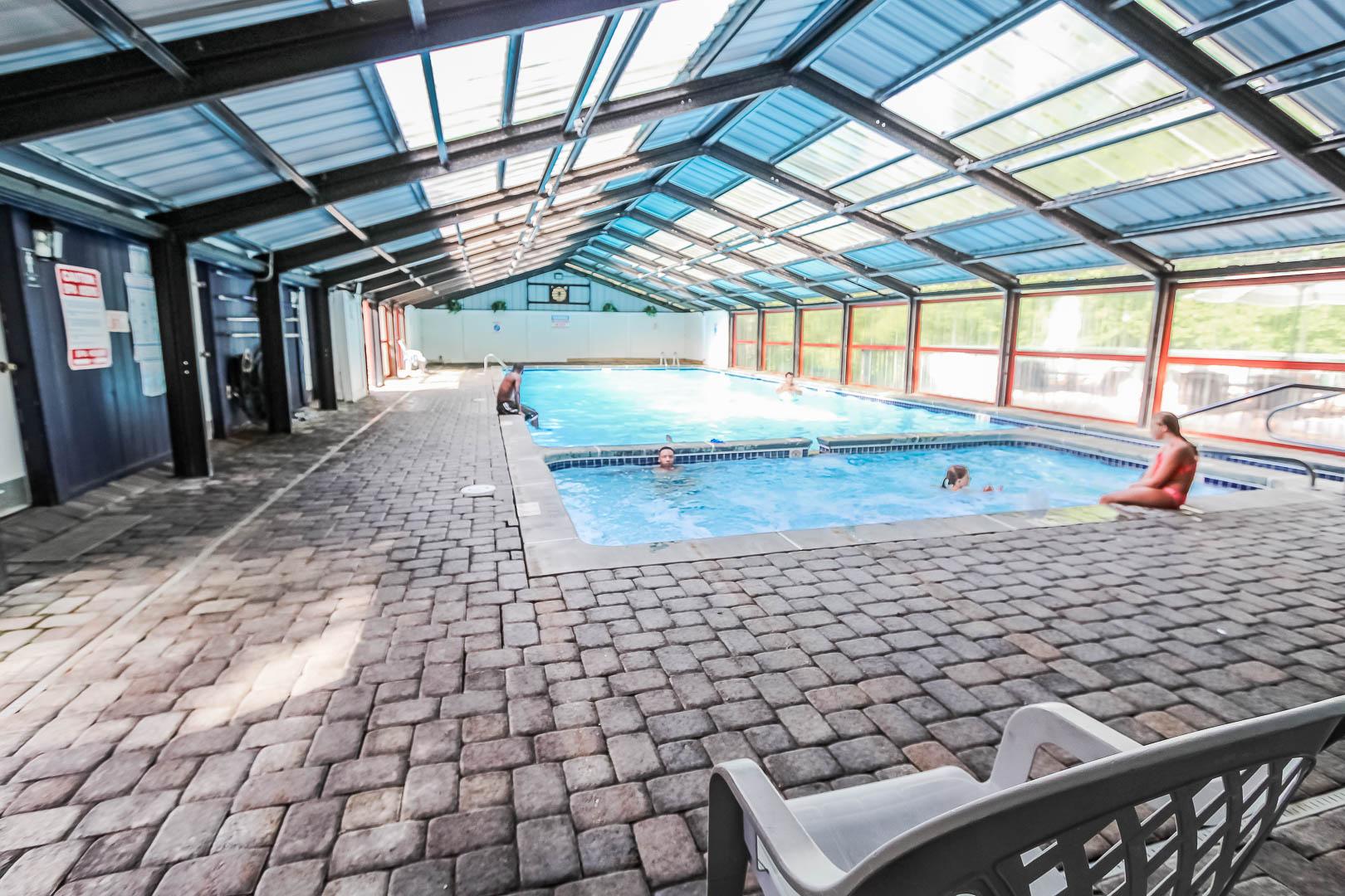 A peaceful indoor swimming pool at VRI's Alpine Crest Resort in Georgia.