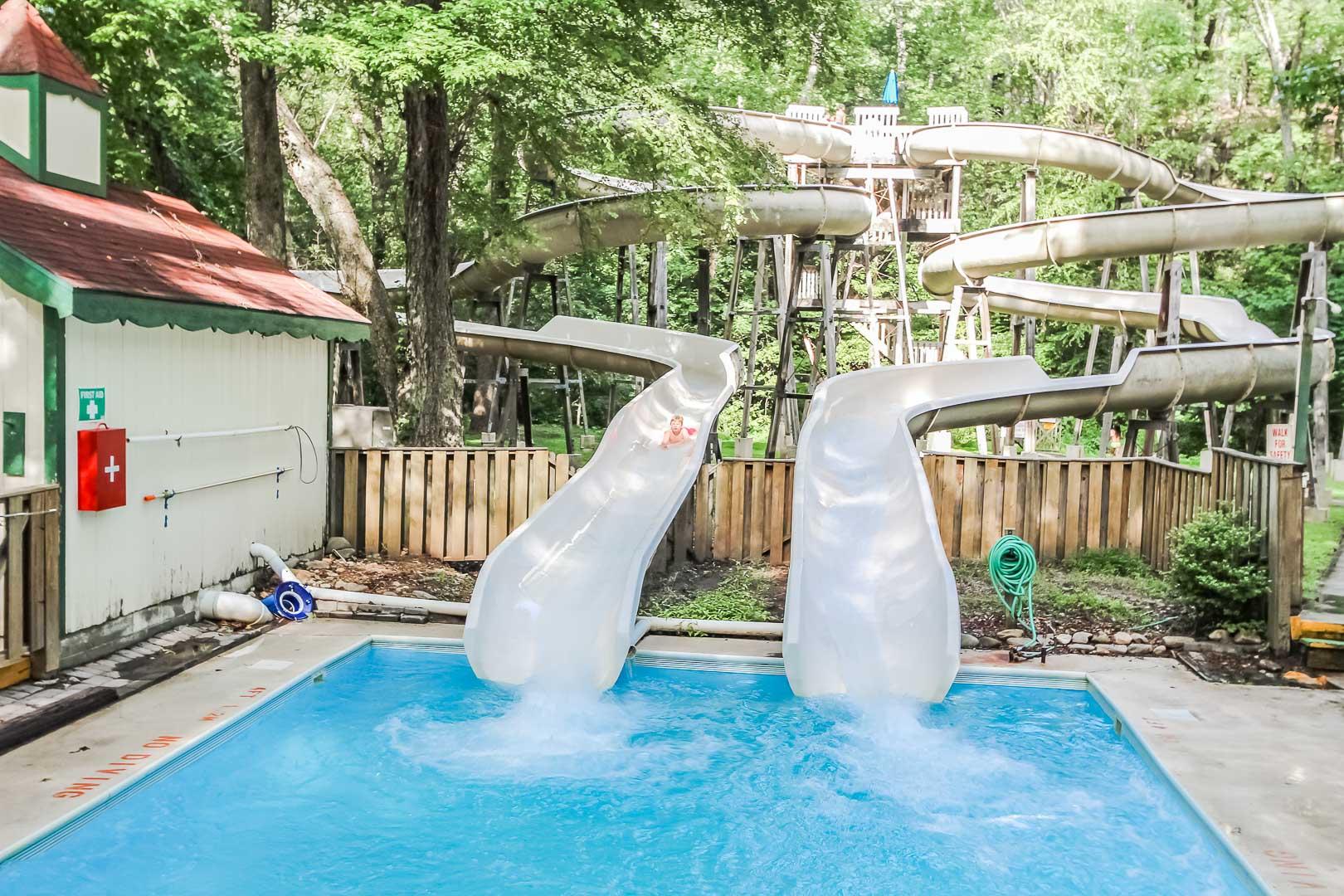 An enjoyable water slide at VRI's Alpine Crest Resort in Georgia.