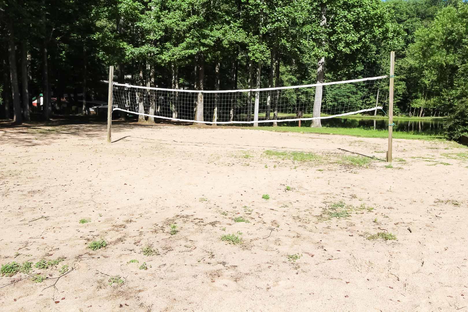 An enjoyable volleyball field at VRI's Alpine Crest Resort in Georgia.