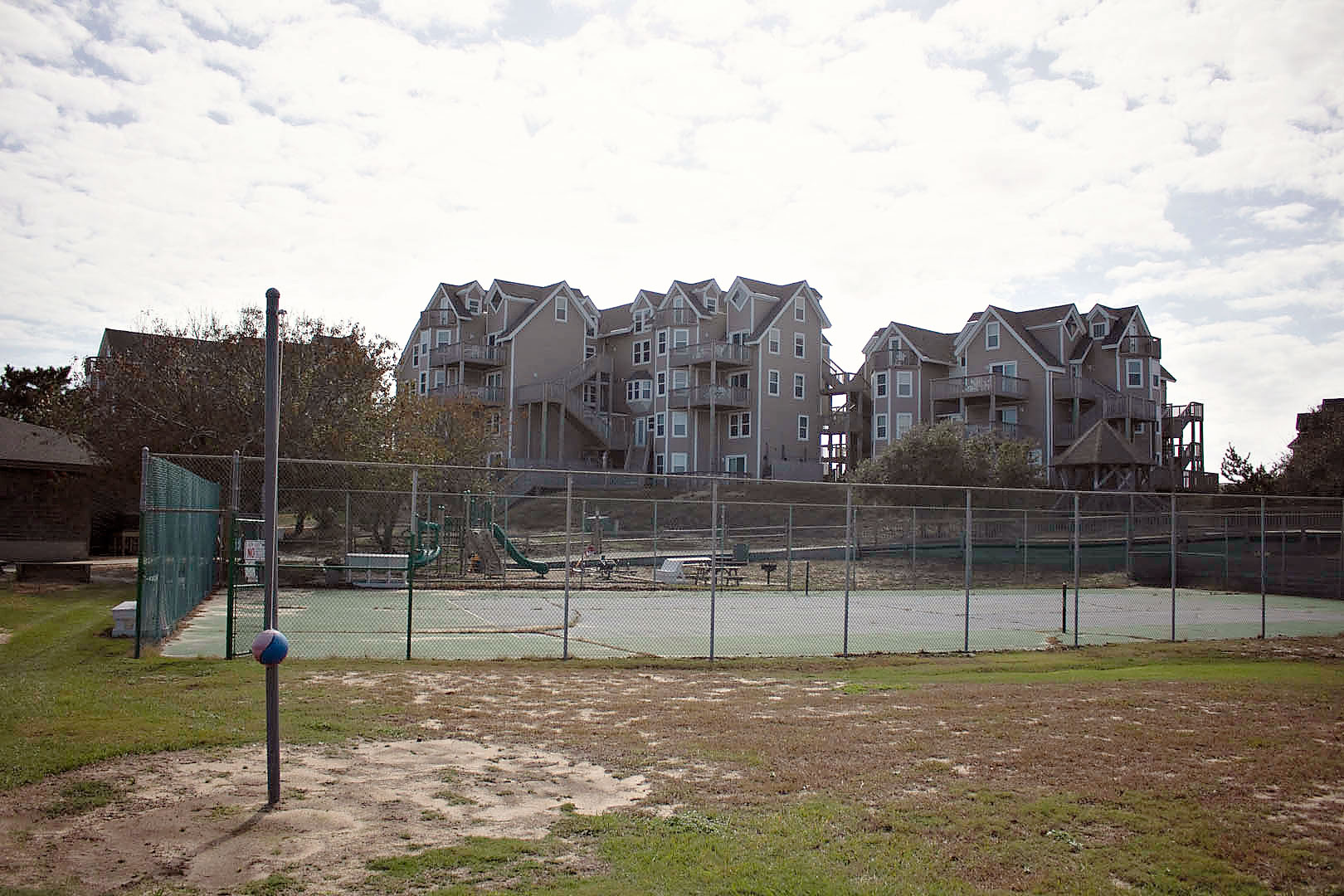 Tether Ball and Tennis Courts