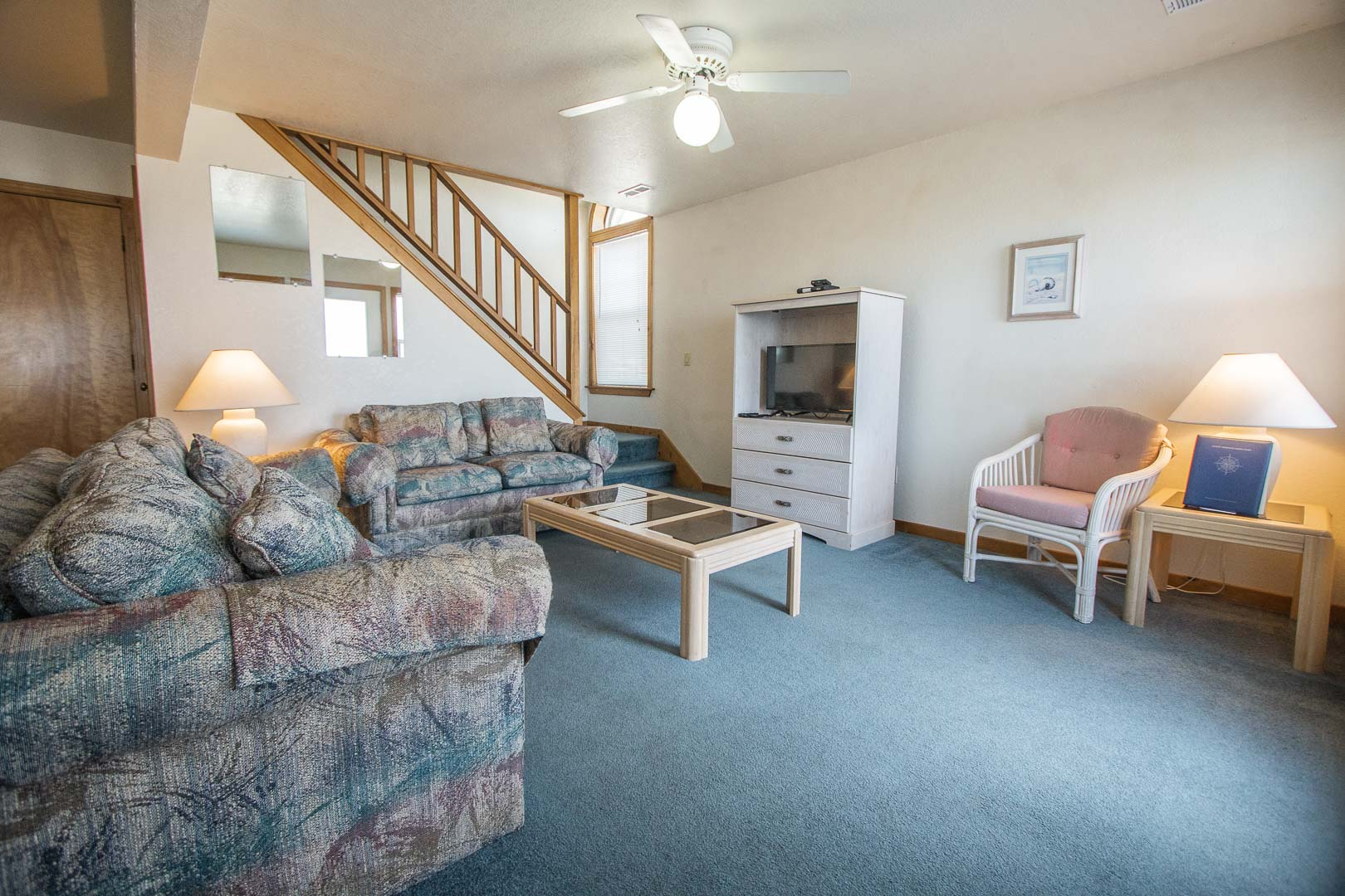 A cozy living room area at VRI's Barrier Island Station in North Carolina.