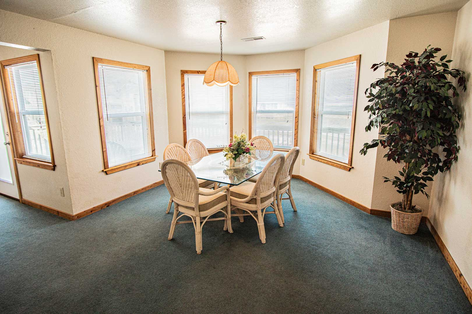 A standard dining room area at VRI's Barrier Island Station in North Carolina.