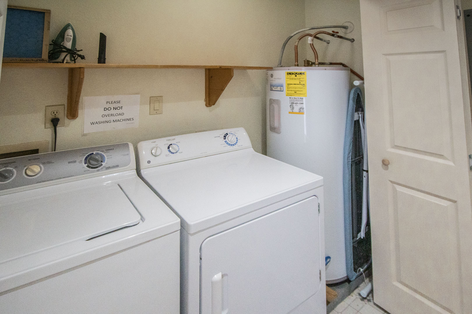 A laundry room amenity at VRI's Barrier Island Station in North Carolina.