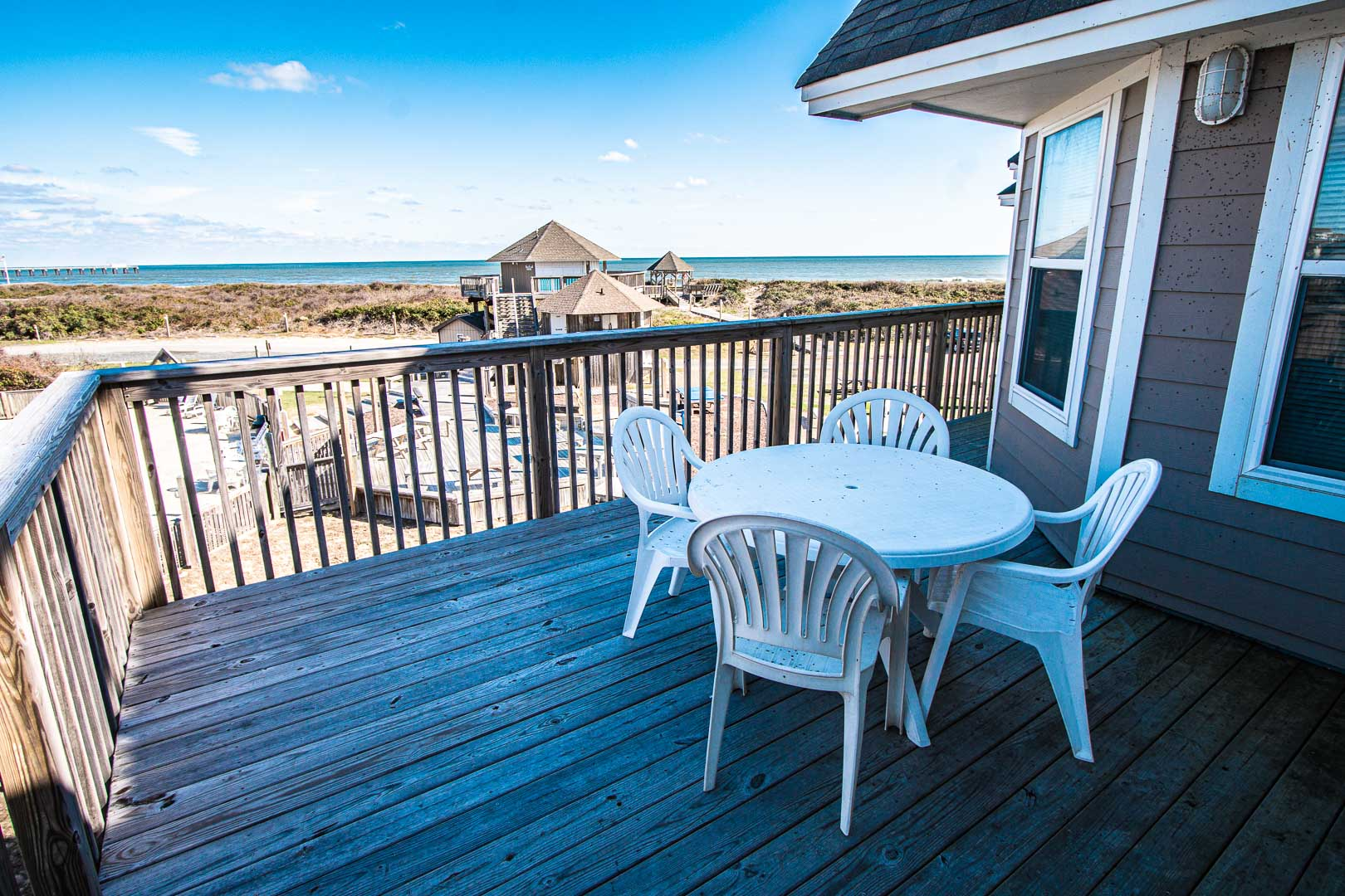 A scenic view from the patio deck at VRI's Barrier Island Station in North Carolina.