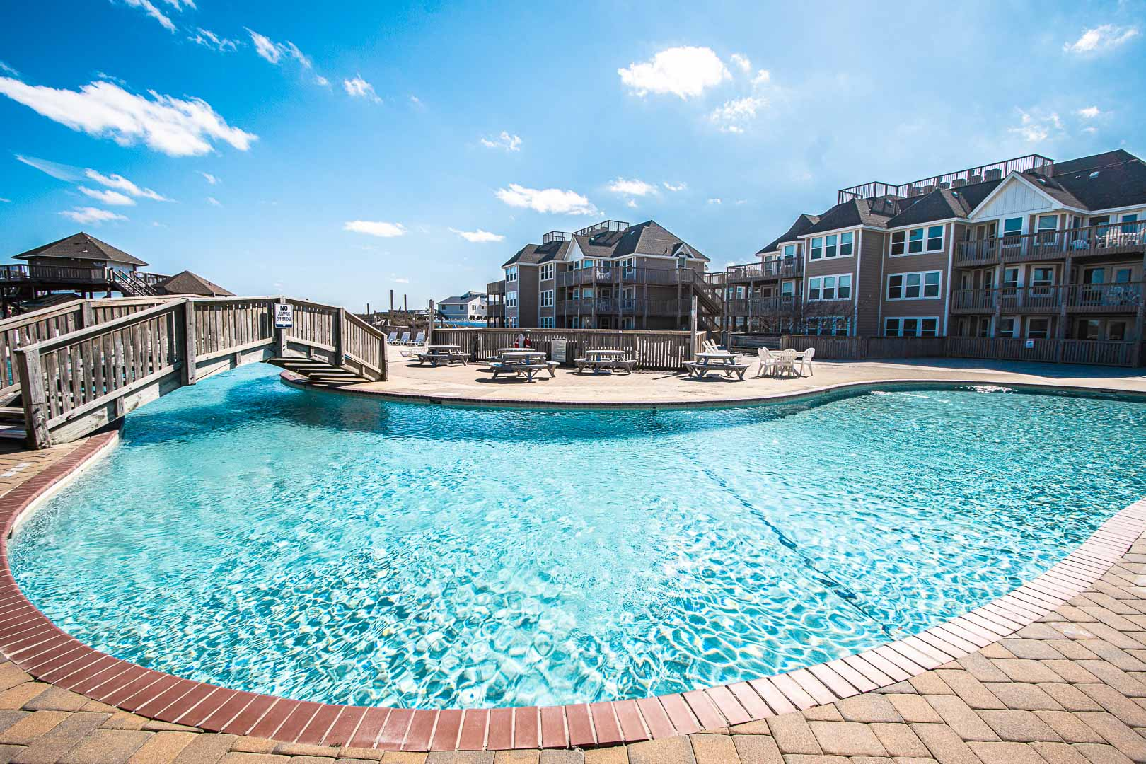 A crisp outside swimming pool at VRI's Barrier Island Station in North Carolina.