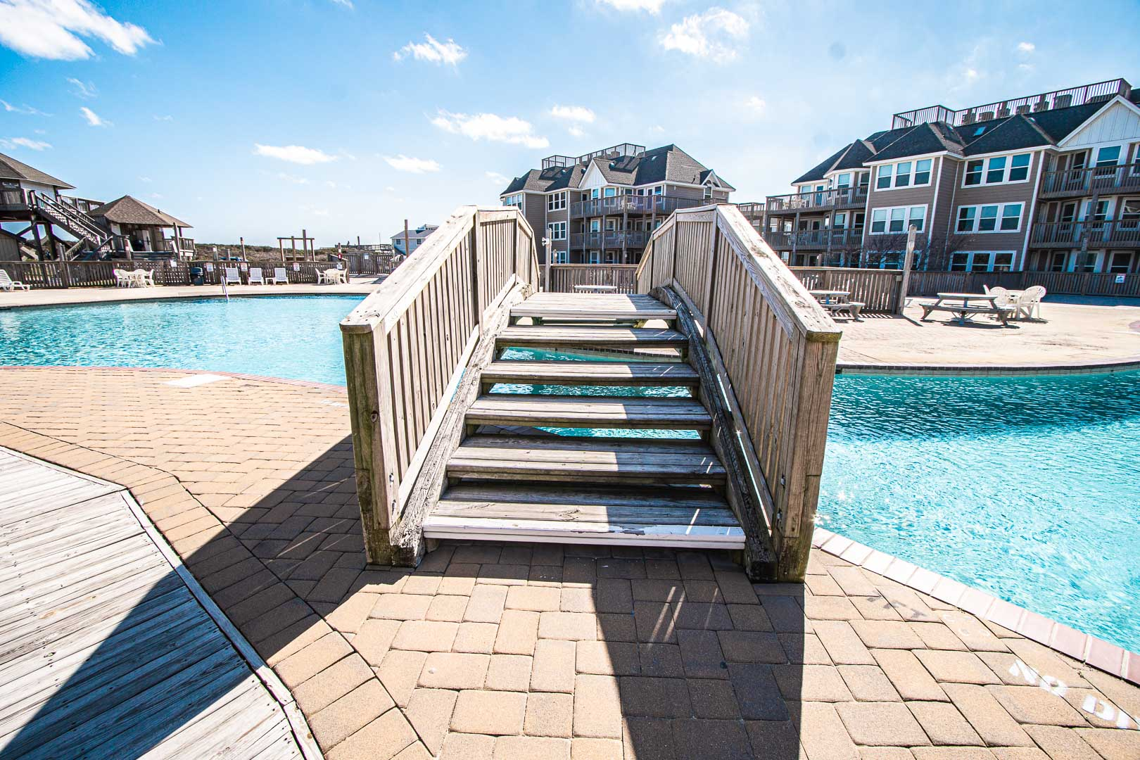 A scenic swimming pool at VRI's Barrier Island Station in North Carolina.