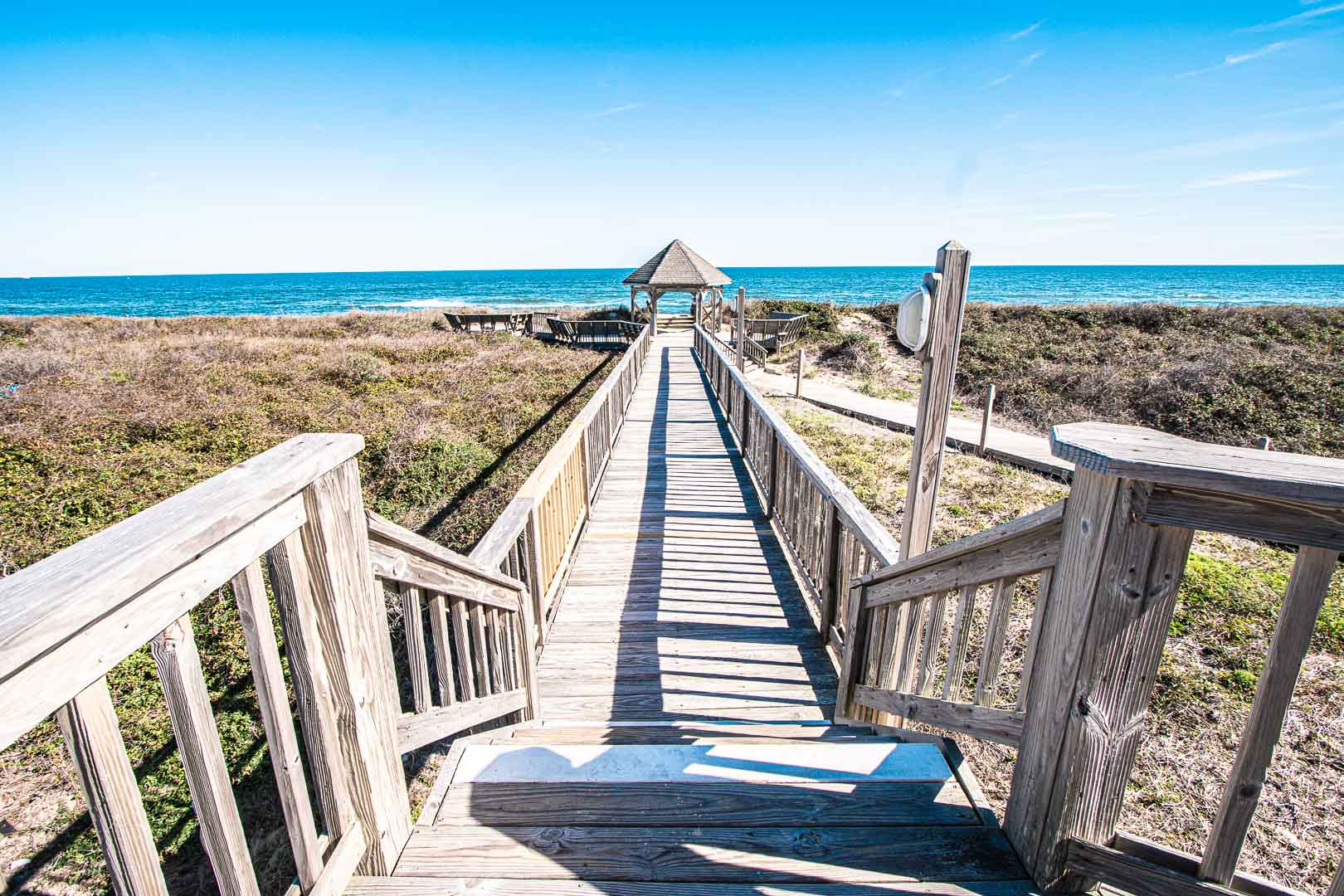 A scenic view of the beach at VRI's Barrier Island Station in North Carolina.