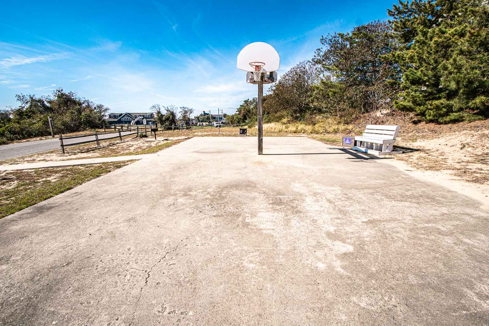 Basketball courts available at VRI's Barrier Island Station in North Carolina.