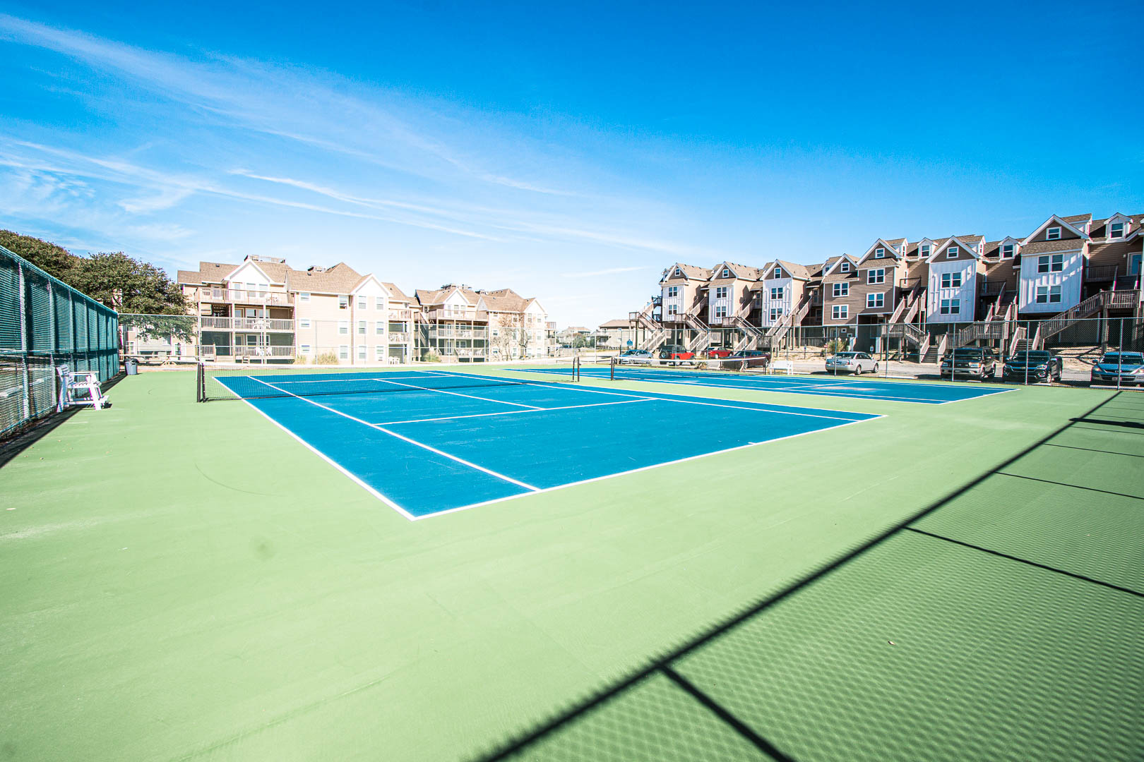 A spacious tennis court at VRI's Barrier Island Station in North Carolina.