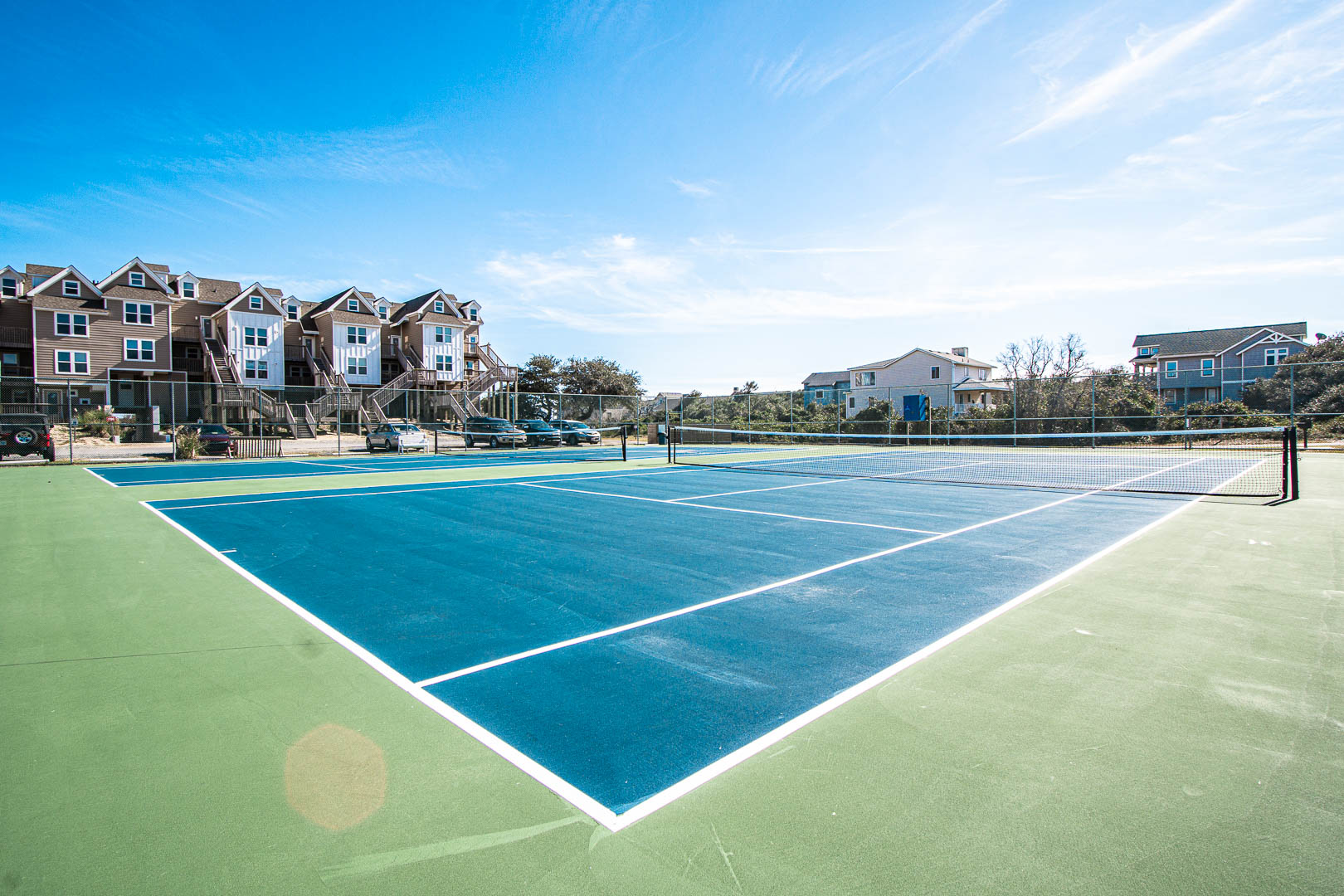A tennis court available at VRI's Barrier Island Station in North Carolina.