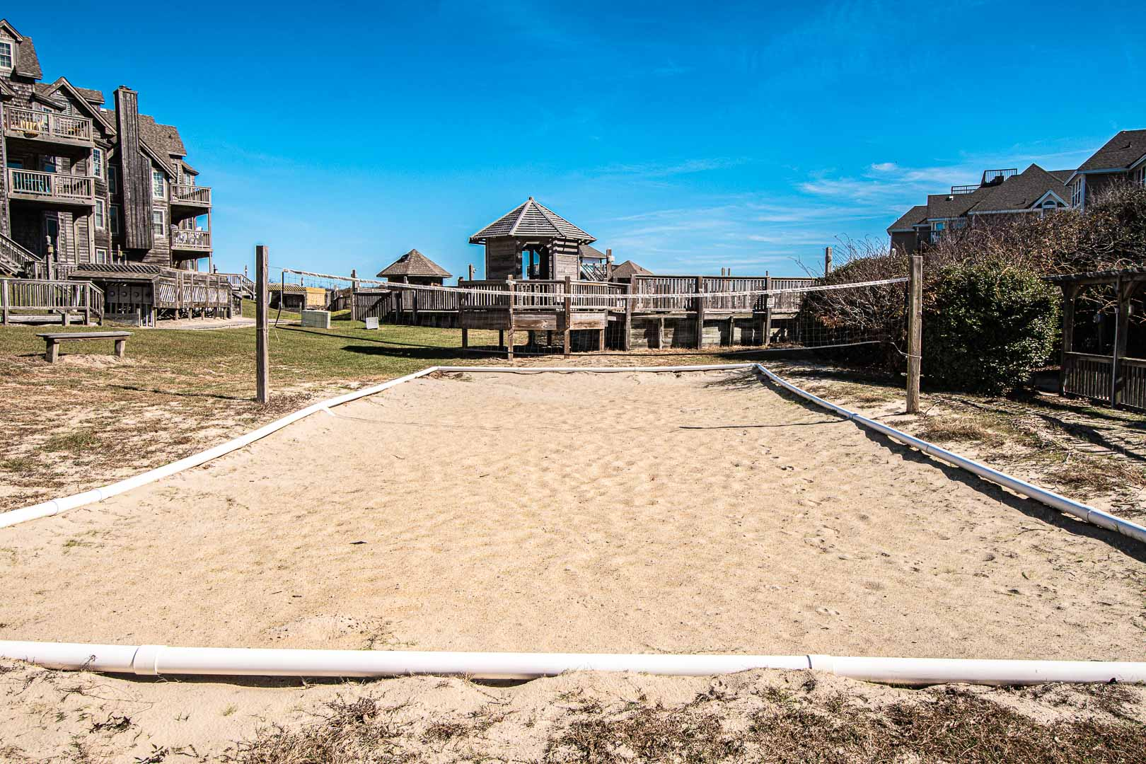 Volleyball nets available at VRI's Barrier Island Station in North Carolina.