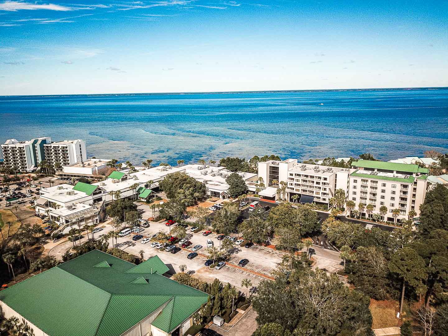An expansive view of VRI's Bay Club of Sandestin in Florida.