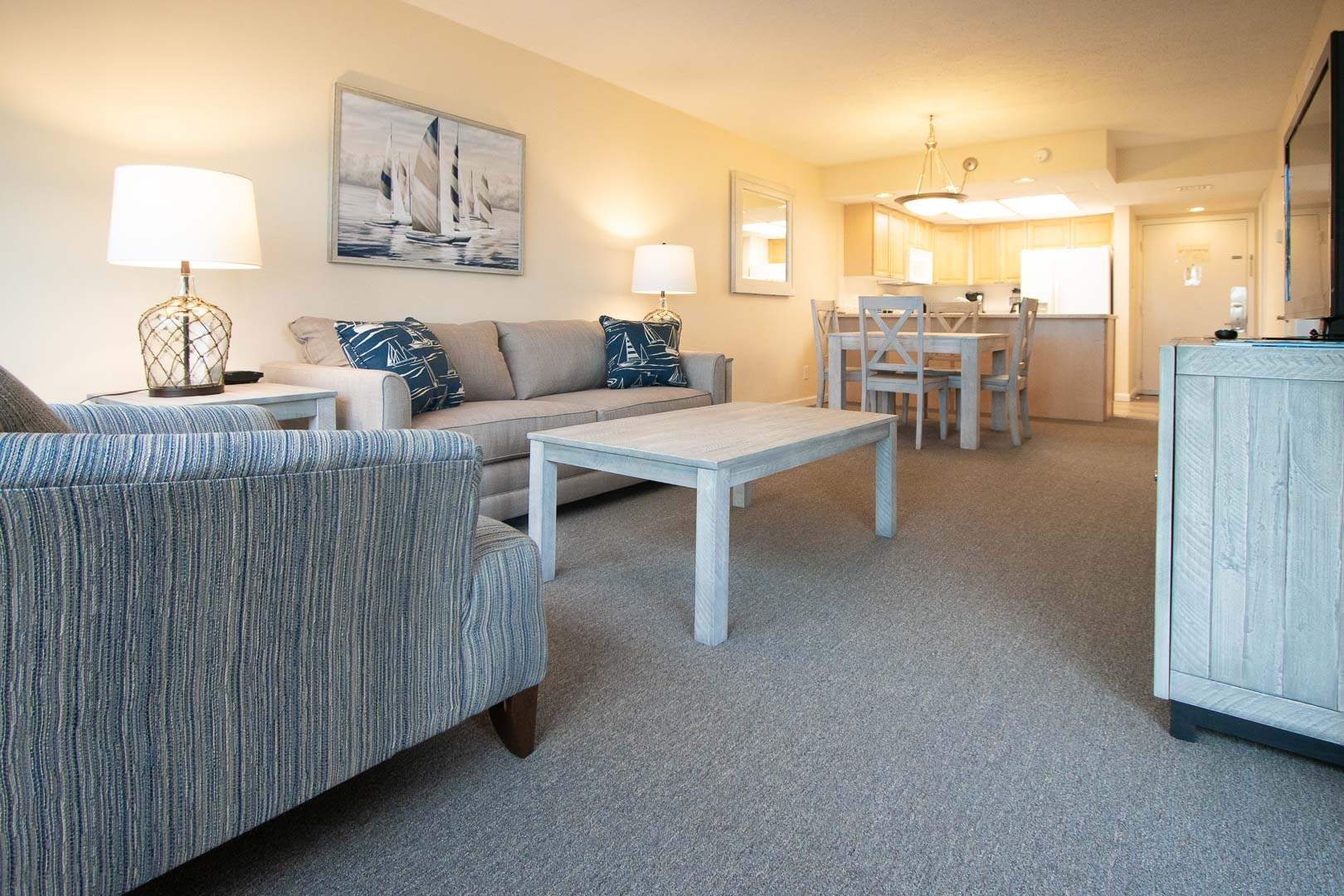 A clean living room area at VRI's Bay Club of Sandestin in Florida.