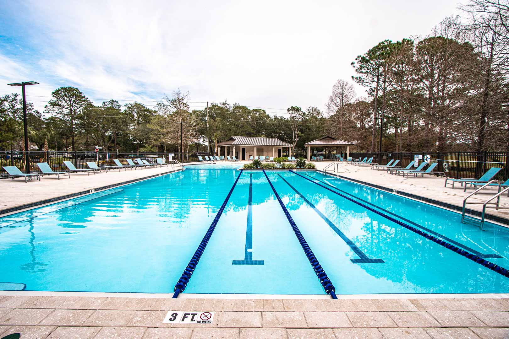 A Spacious outdoor swimming pool at VRI's Bay Club of Sandestin in Florida.