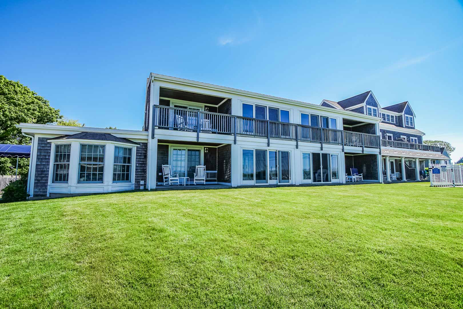 A scenice view of VRI's Beachside Village Resort in Massachusetts.