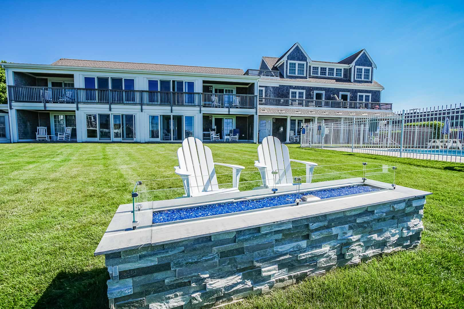 A pleasant view of the resort at VRI's Beachside Village Resort in Massachusetts.