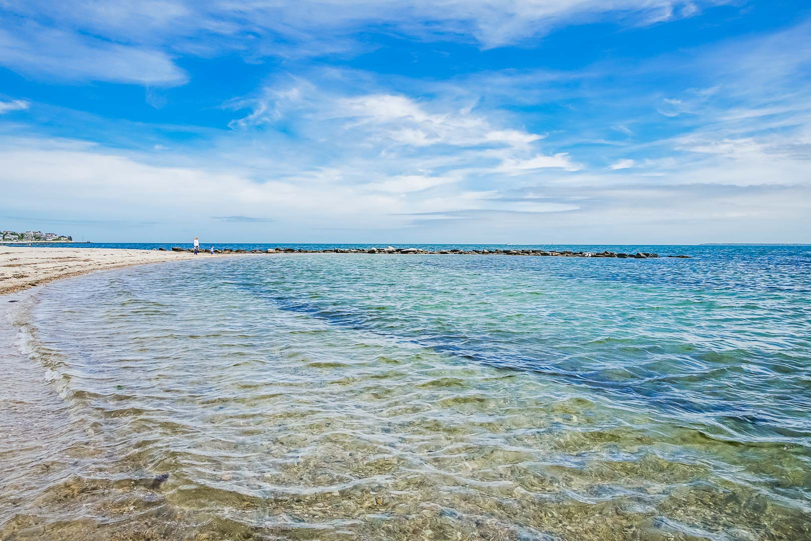 A serene ocean view at VRI's Beachside Village Resort in Massachusetts.