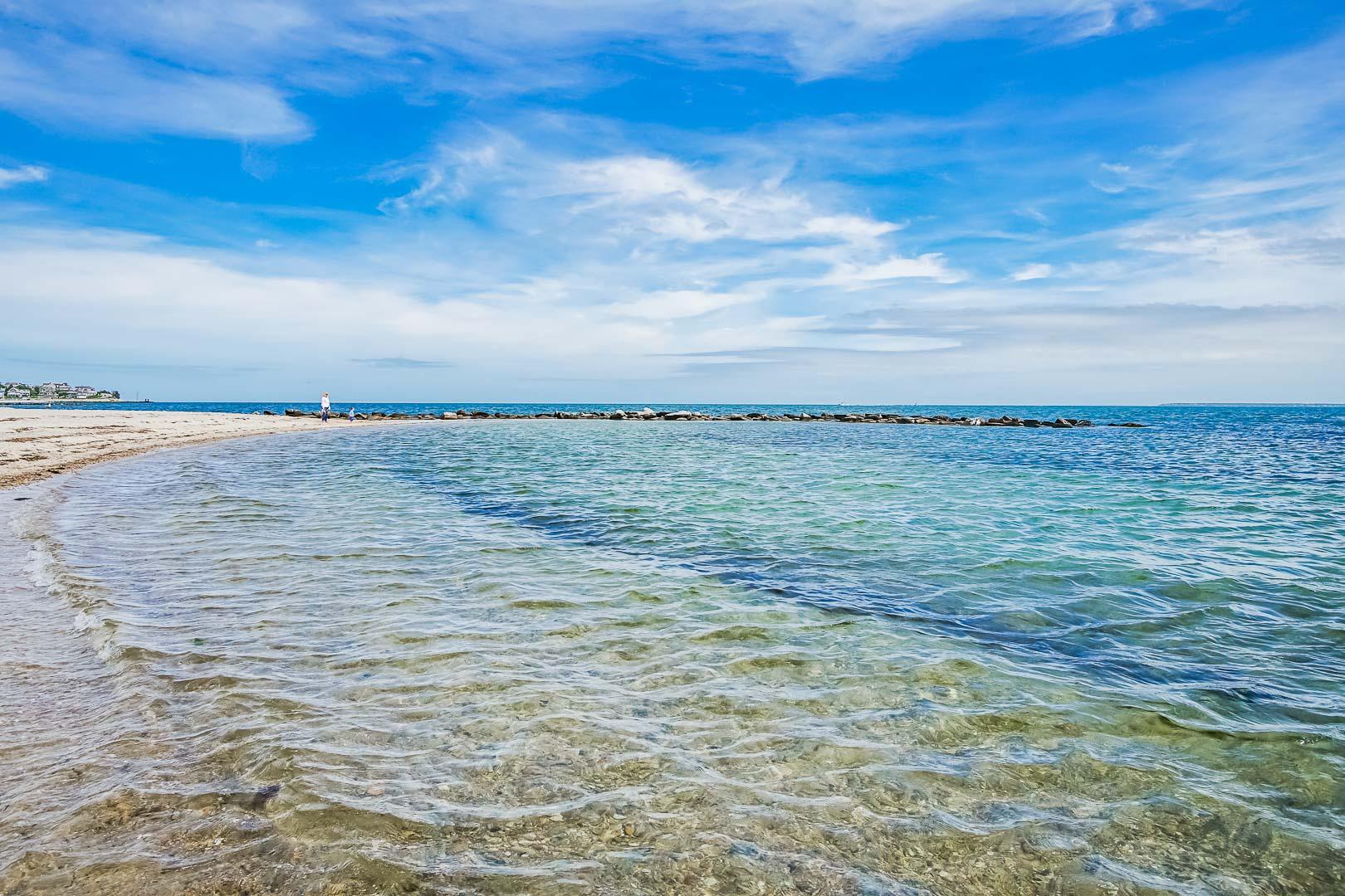A serene ocean view at VRI's Beachside Village Resort in Massachusetts.