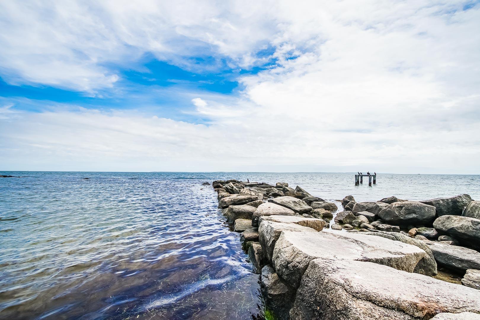 A peaceful ocean view at VRI's Beachside Village Resort in Massachusetts.
