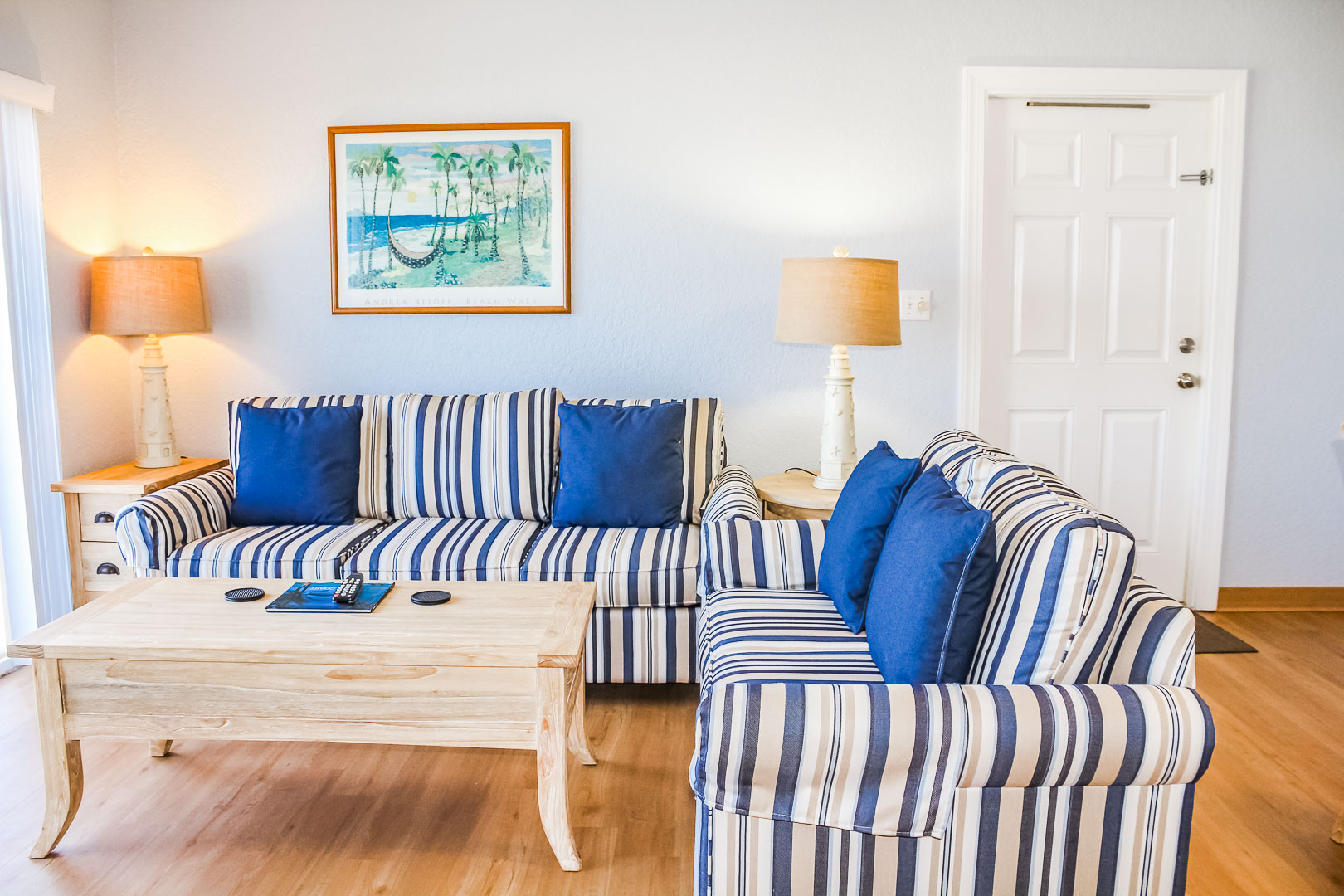 A refreshing living room area at VRI's Berkshire Beach Club in Florida