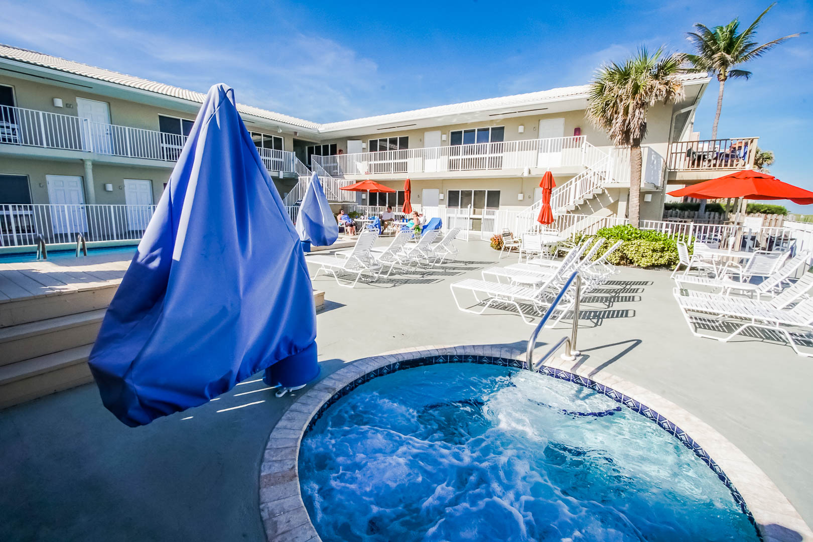 A relaxing jacuzzi tub with VRI's Berkshire Beach Club in Florida