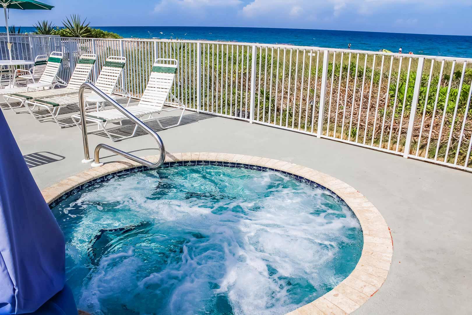 a crisp jacuzzi tub at VRI's Berkshire Beach Club in Florida