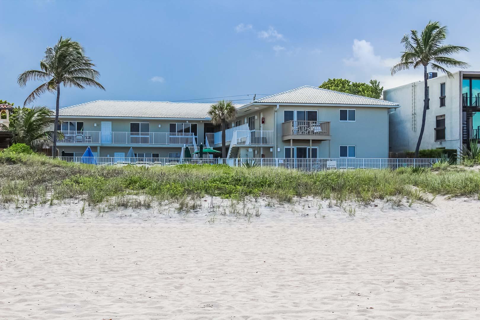 A charming view of VRI's Berkshire Beach Club in Florida