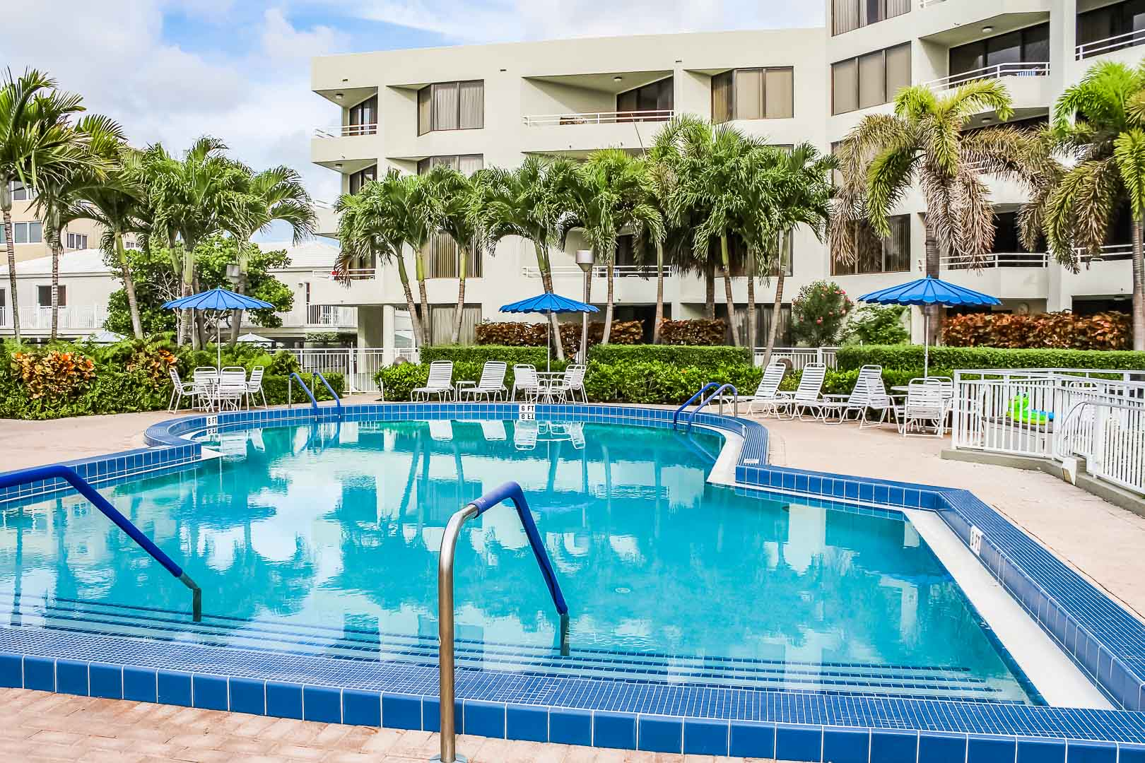 A relaxing pool at VRI's Berkshire by the Sea in Florida.