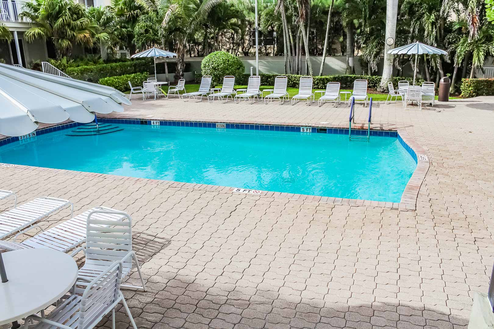 A soothing pool at VRI's Berkshire by the Sea in Florida.