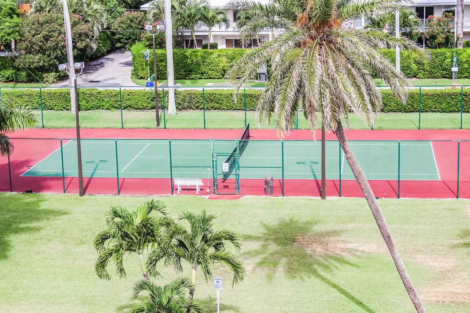 An inviting tennis court at VRI's Berkshire by the Sea in Florida.