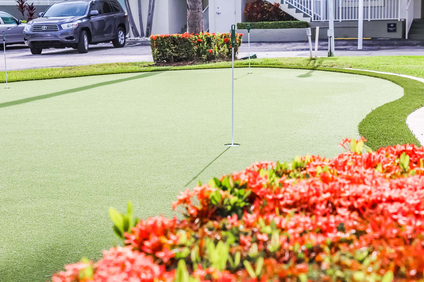 An enjoyable putting green area at VRI's Berkshire by the Sea in Florida.