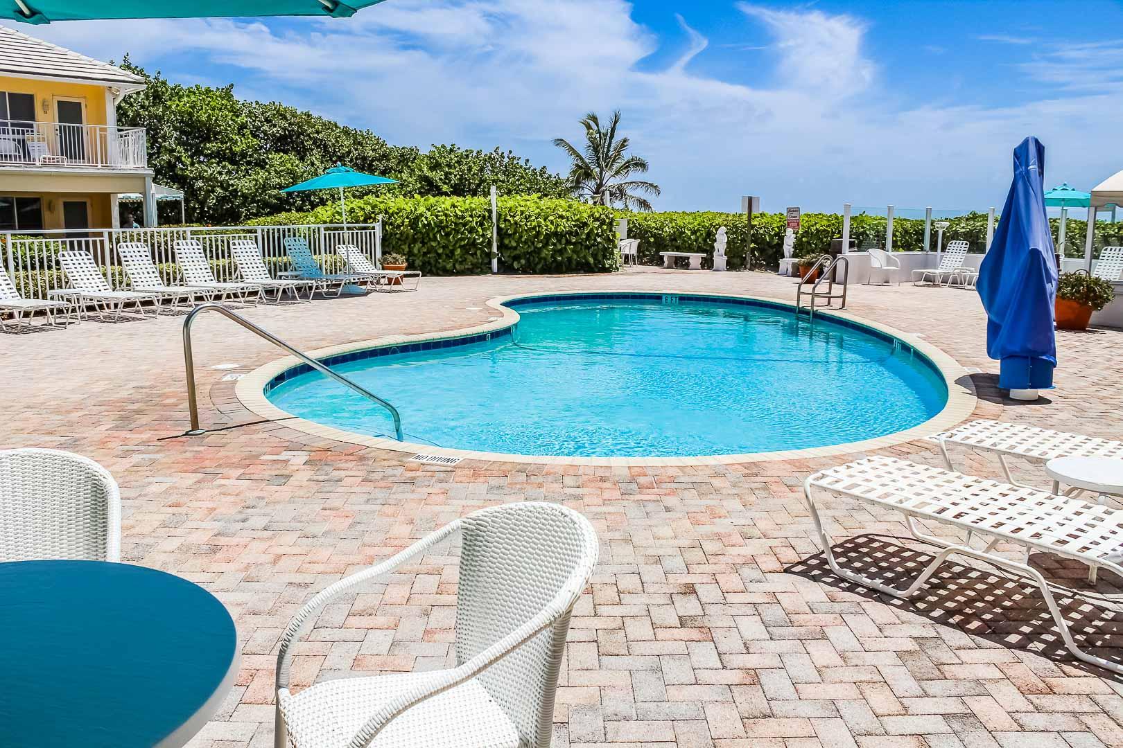 A crisp swimming pool at VRI's Berkshire on the Ocean in Florida.