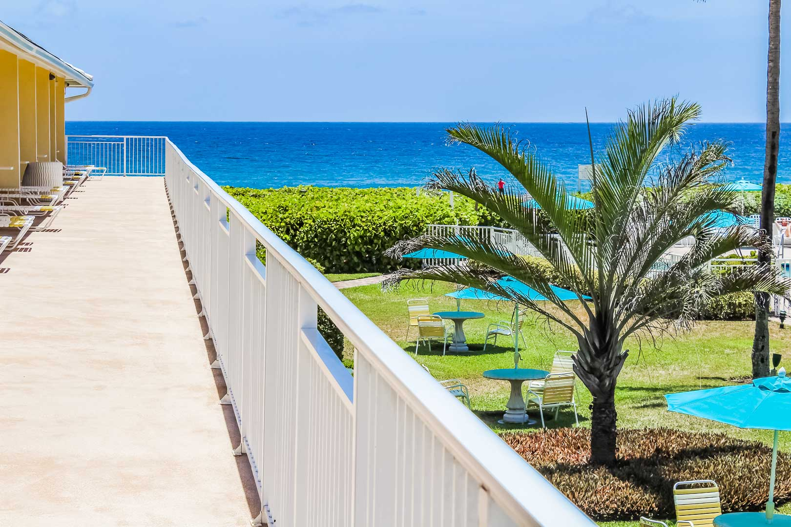 A scenic ocean view at VRI's Berkshire on the Ocean in Florida.