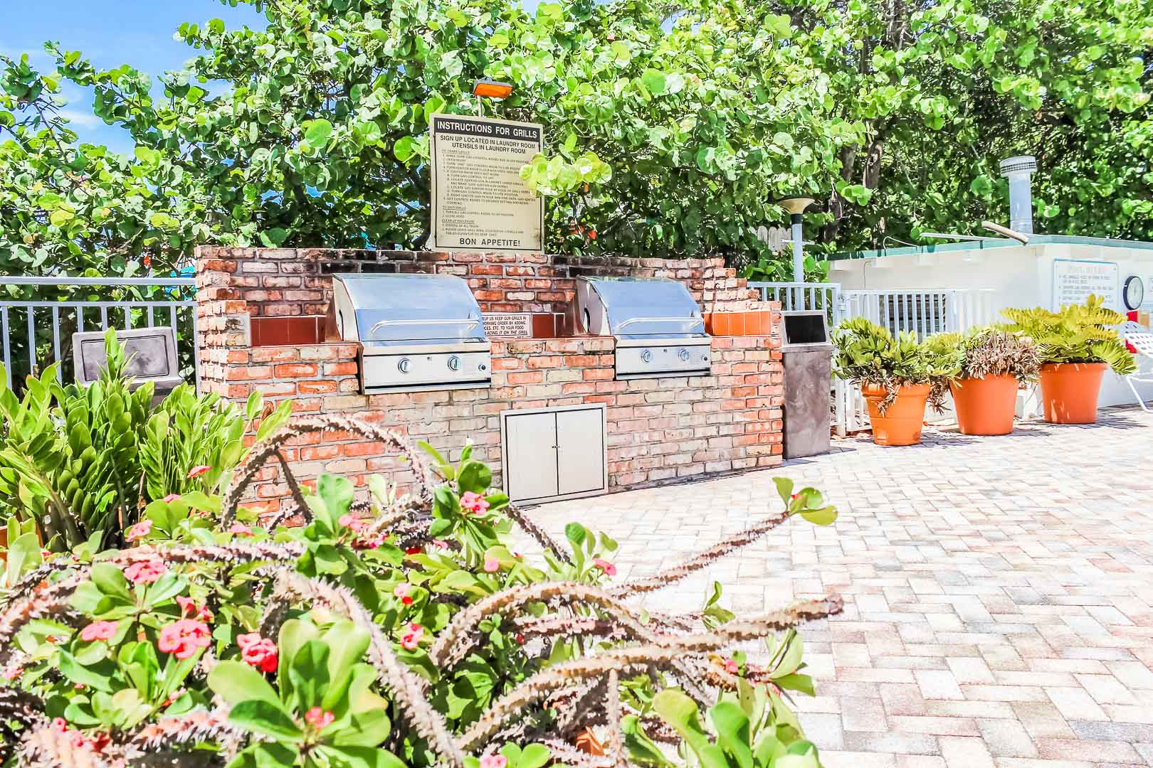 BBQ Grill available at VRI's Berkshire on the Ocean in Florida.