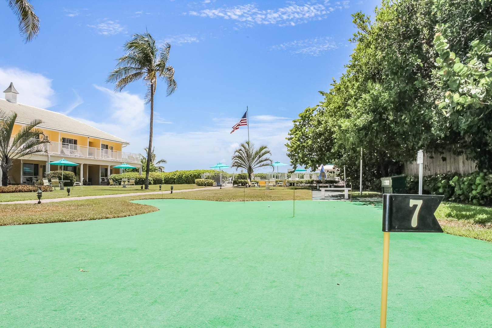 A colorful putting green at VRI's Berkshire on the Ocean in Florida.