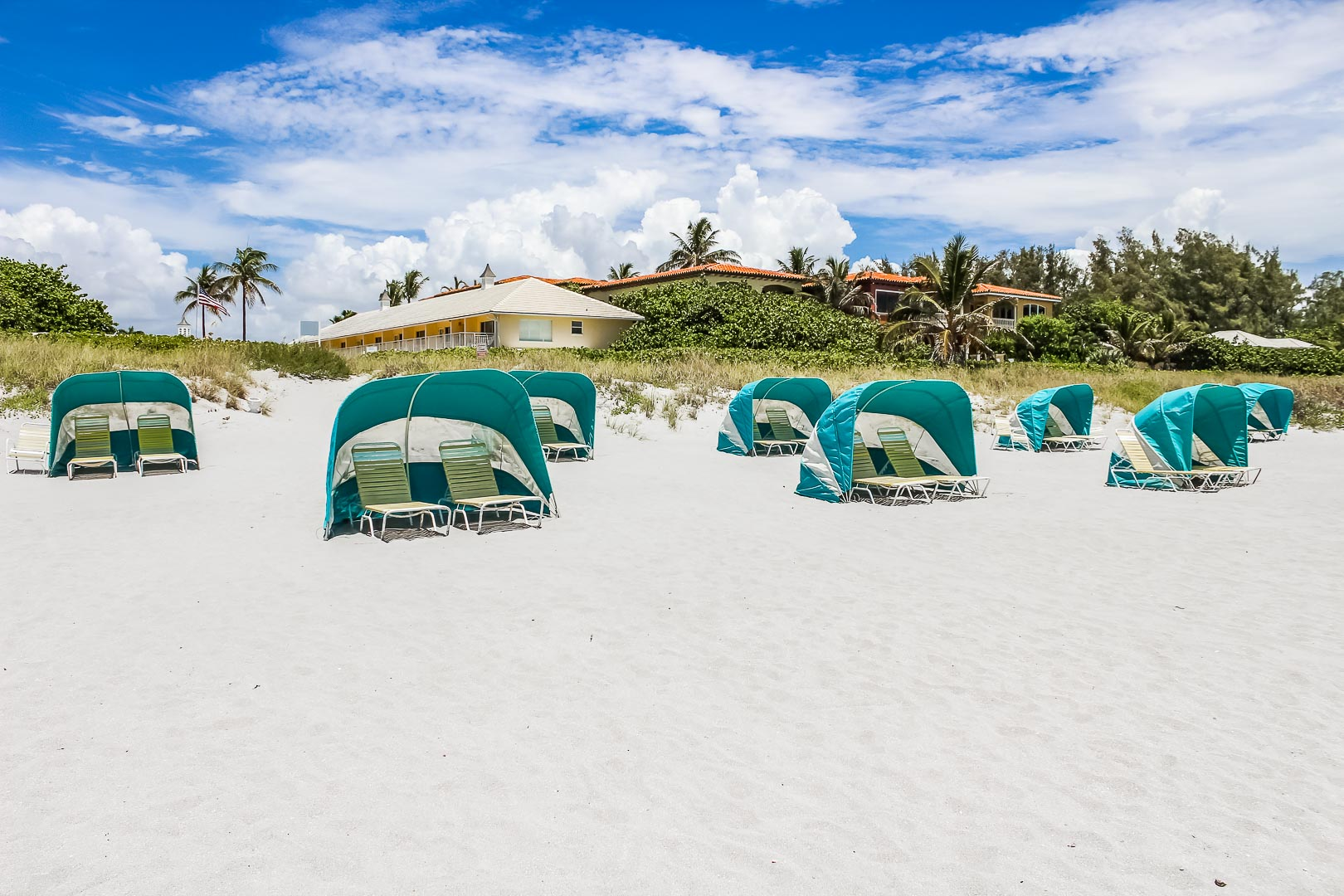 A relaxing beach side area at VRI's Berkshire on the Ocean in Florida.