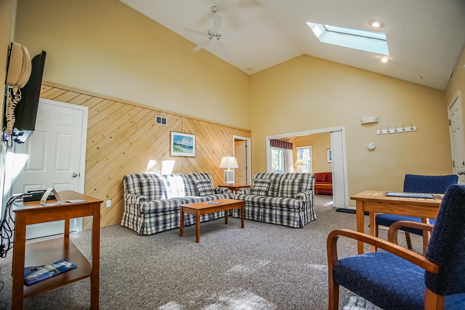 An expansive living room area at VRI's Cape Cod Holiday Estates in Massachusetts.
