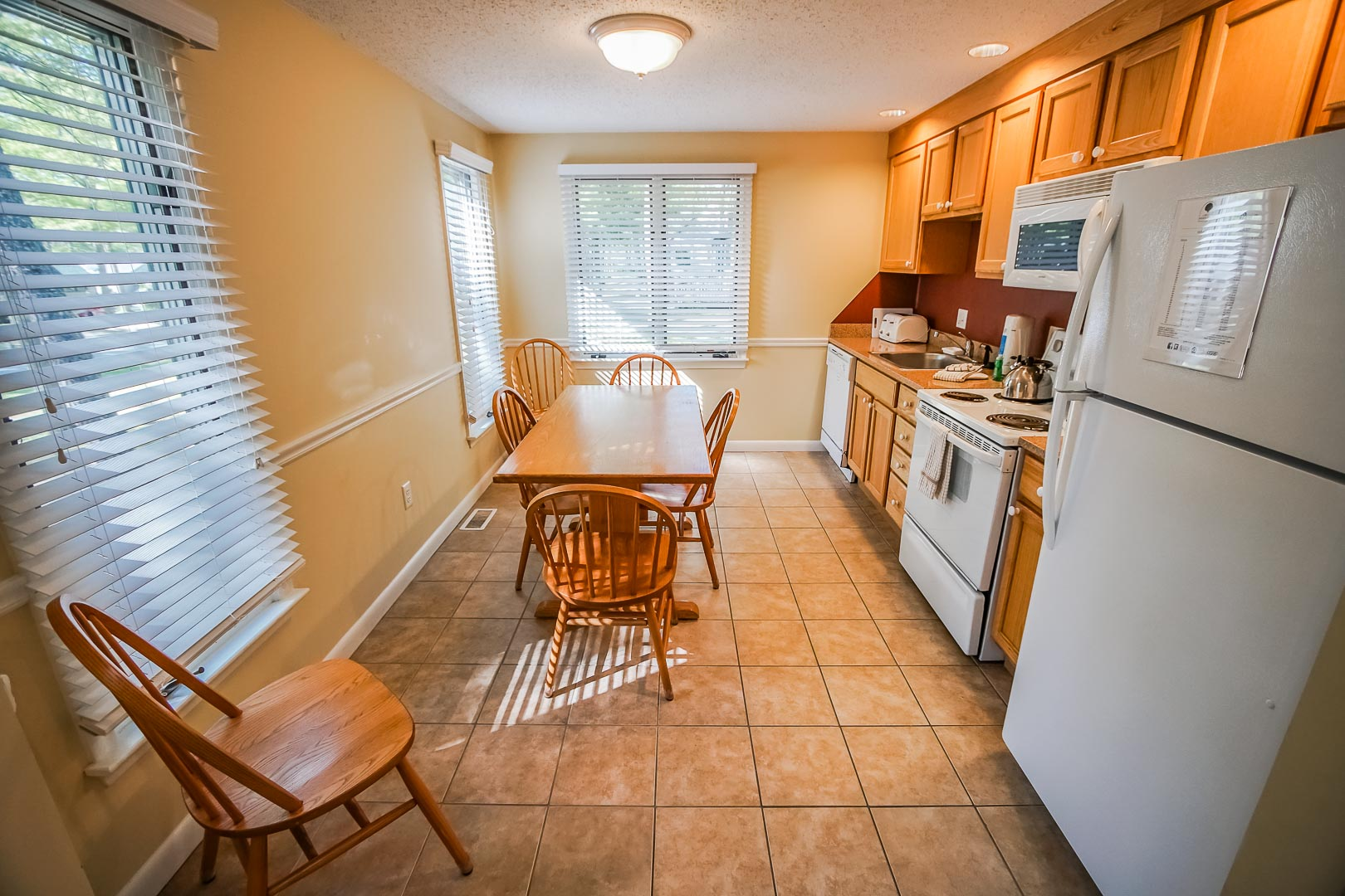 A modern full size kitchen available at VRI's Cape Cod Holiday Estates in Massachusetts.