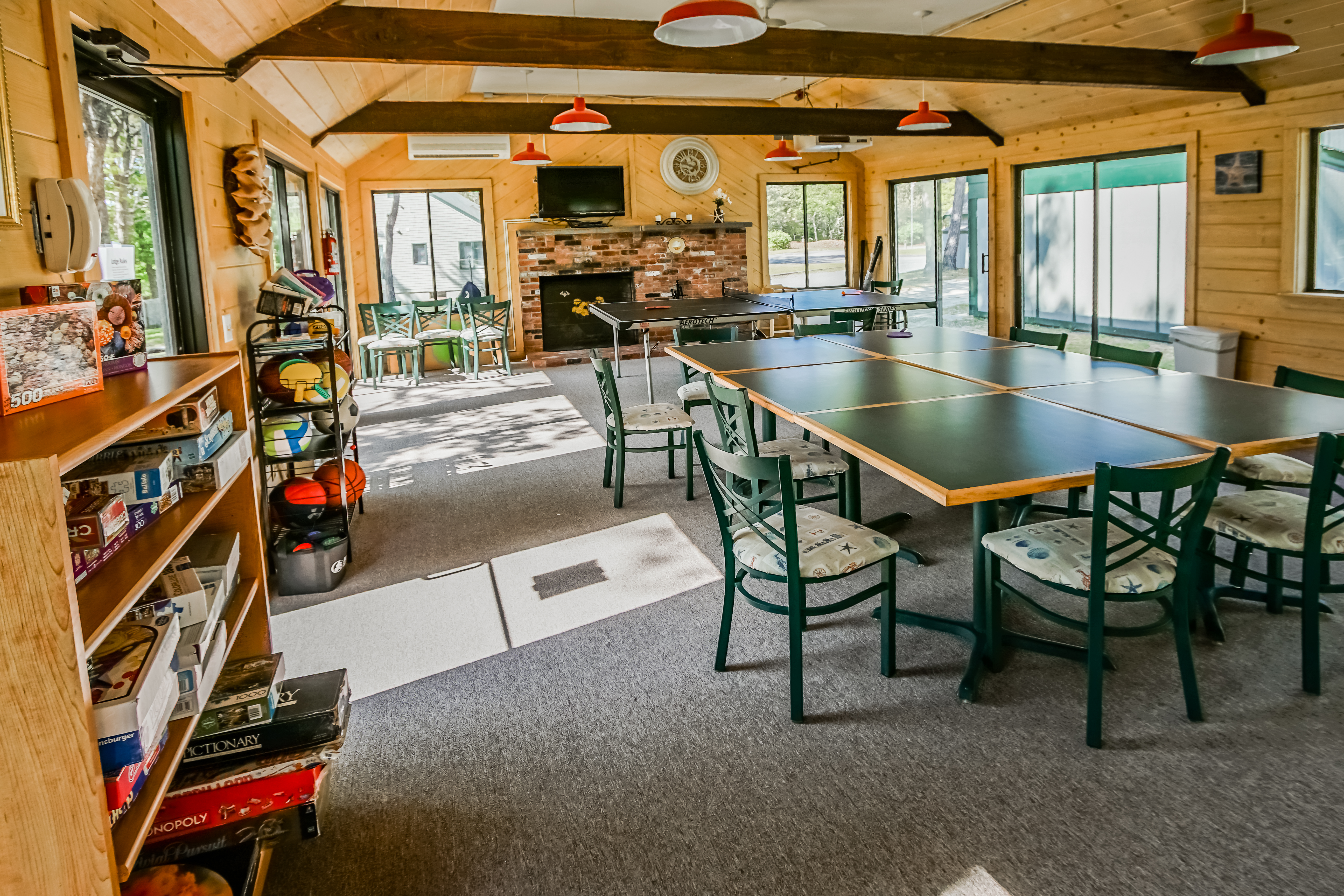 An activities center available at VRI's Cape Cod Holiday Estates in Massachusetts.