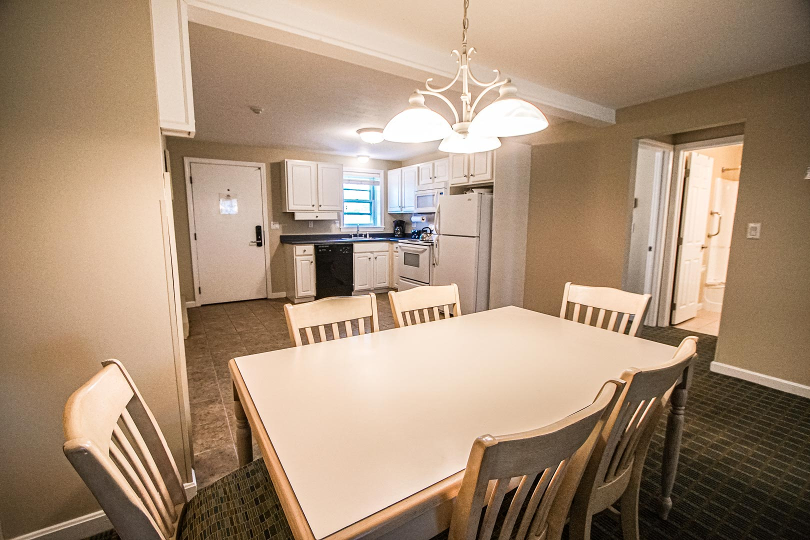 A standard dining room area at VRI's Cape Winds Resort in Massachusetts.