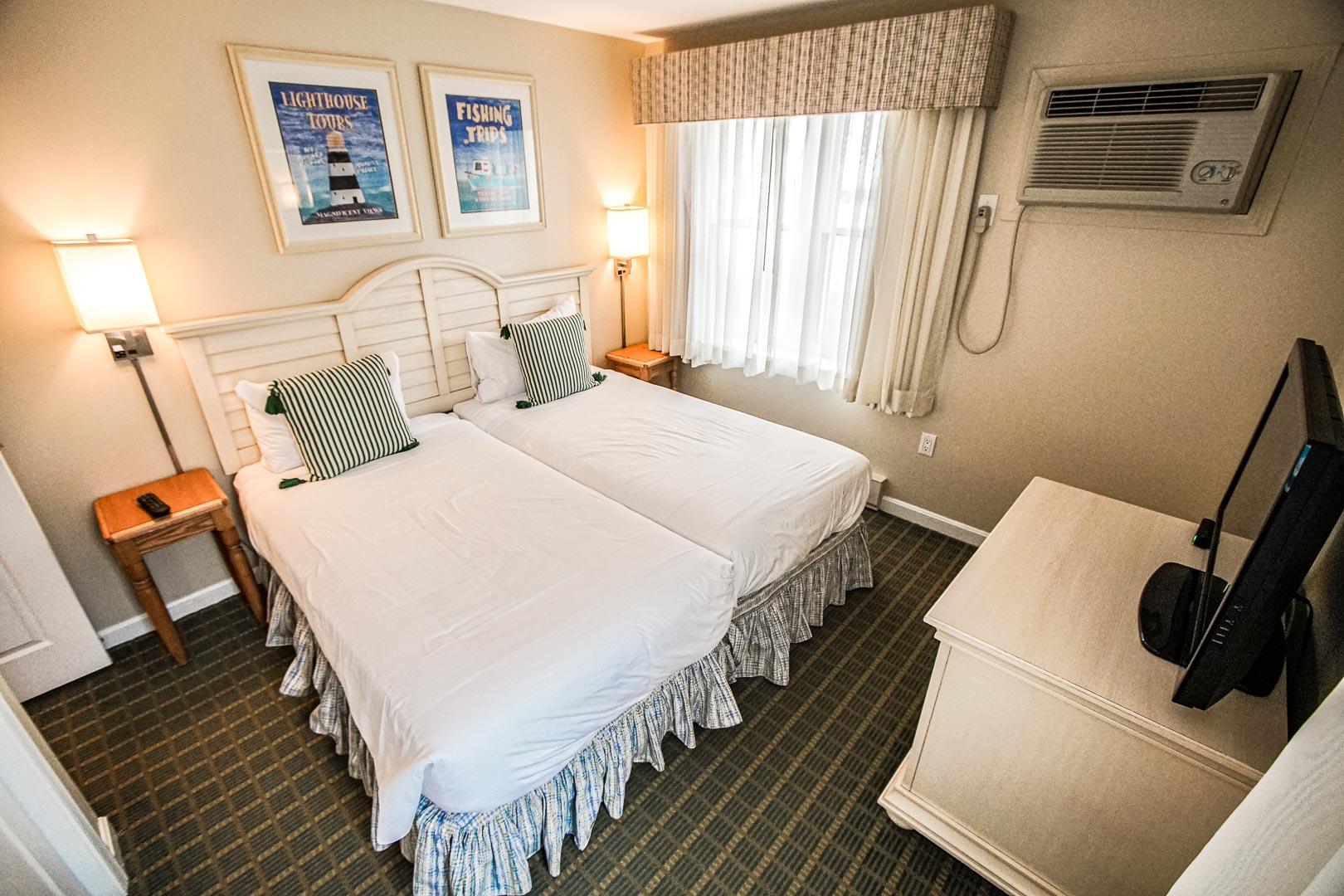 A cozy 2 bedroom unit at VRI's Cape Winds Resort in Massachusetts.