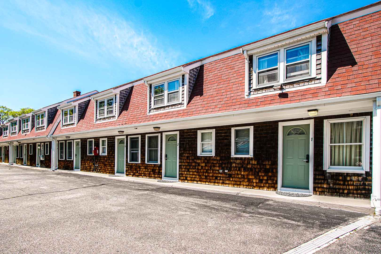 An expansive view of the condominiums at VRI's Cape Winds Resort in Massachusetts.