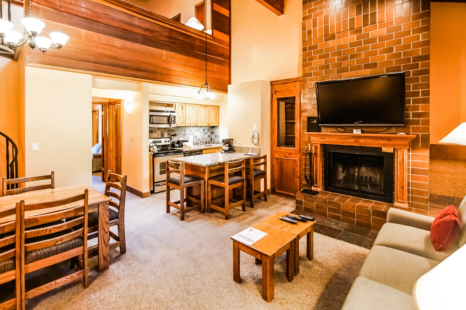 A spacious loft unit at VRI's Cedar at Streamside in Colorado.