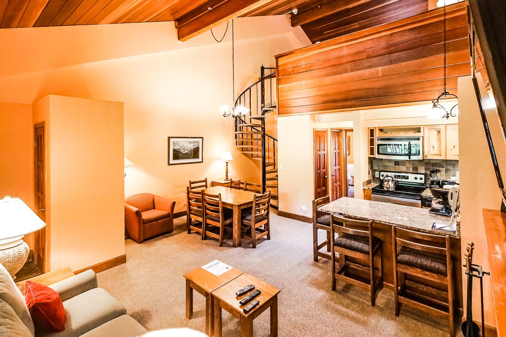 A spacious Loft condominiums at VRI's Cedar at Streamside in Colorado.