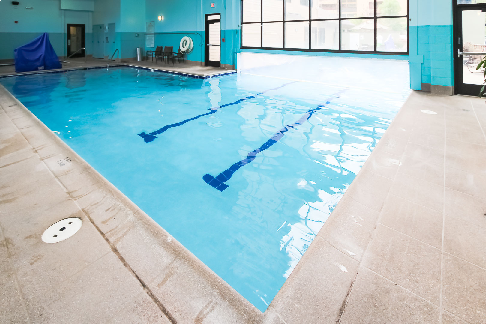An expansive indoor swimming pool at VRI's Cedar at Streamside in Colorado.