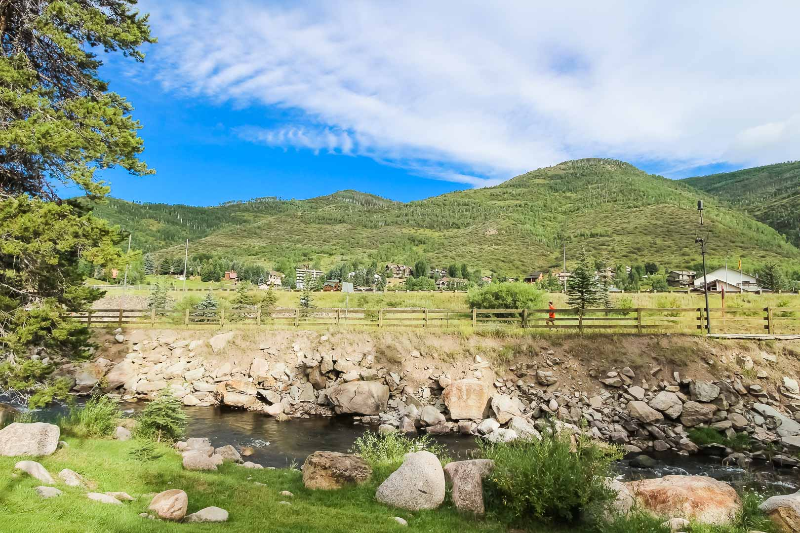 A peaceful view at VRI's Cedar at Streamside in Colorado.