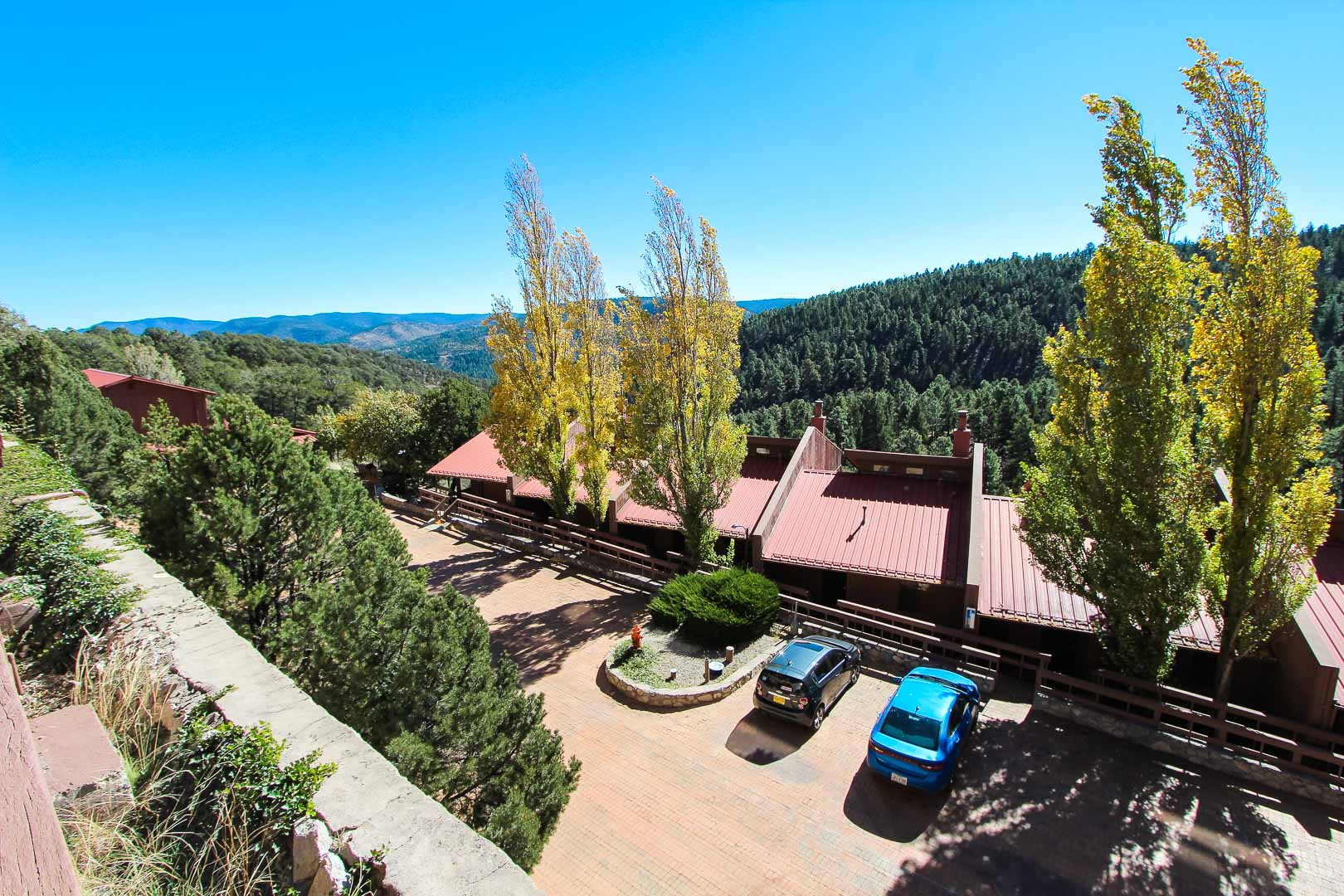 An overview look at VRI's Crown Point Condominiums in New Mexico.