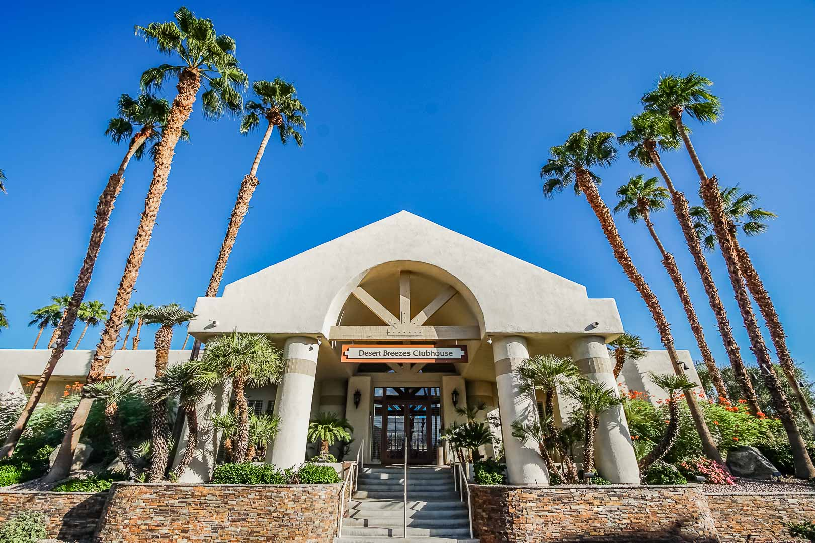 The inviting Clubhouse at a VRI Americas' Desert Breezes Resort in California.